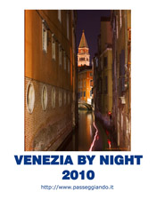 La copertina del calendario 2010 - Venezia By Night